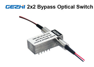 2x2 Bypass Mechanical Fiber Optic Switch 1310 / 1550nm Latching OXC system